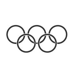 Olympic games rings icon in flat style olympiad vector