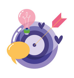 people creativity technology target arrow bulb vector image