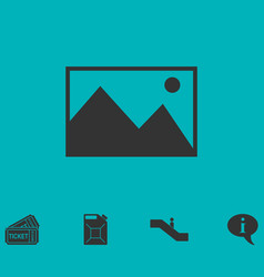 Photograph icon flat vector