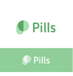 pills simple logo concept for painkiller vector image