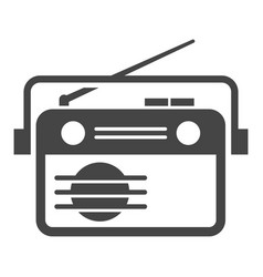 radio with antenna and handle retro receiver bold vector image