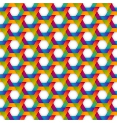rainbow hexagon seamless pattern vector image