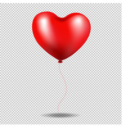 red balloon heart in transparent background vector image