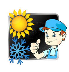 repair of air conditioner vector image