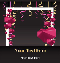 sale flayer with confetti and square white border vector image