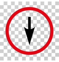 Sharp Down Arrow Rounded Icon vector