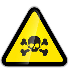 Skull and bones warning sign modern icon with vector image
