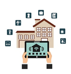 smart house vector image
