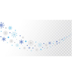 Snowflakes and snow border blue and silver vector