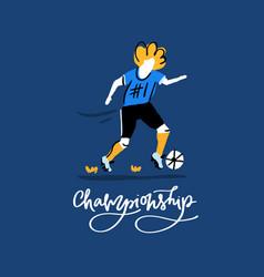 soccer championship design vector image