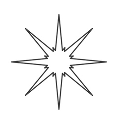 sparkling star icon vector image