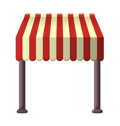 striped awning for shops street cafes vector image