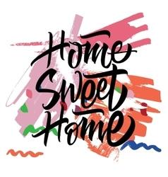 Sweet Home Calligraphy vector