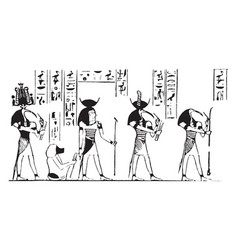 thoth vintage vector image