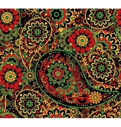 Traditional oriental seamless paisley pattern vector image vector image