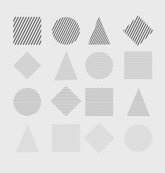 trendy geometric shapes set vector image