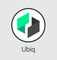 Ubiq - digital currency symbol vector