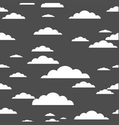 white cloud on gray background seamless pattern vector image