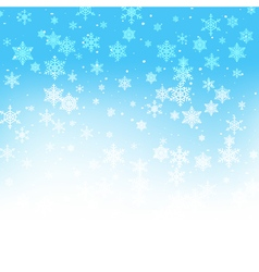Winter xmas new year background with snowflakes vector image