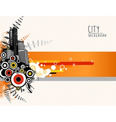 Abstract template with city scape vector image vector image