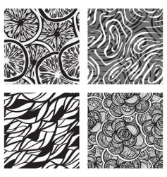 four vector seamless abstract backgrounds vector image vector image
