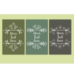 frames for text hand drawn vector image