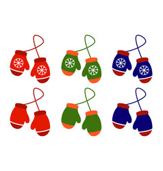 pair of knitted christmas vector image vector image