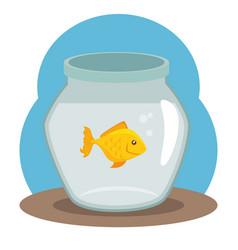 pet fish bowl icon vector image