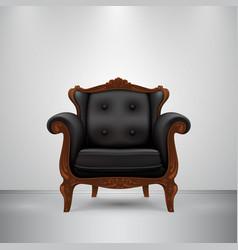 Retro chair black vector