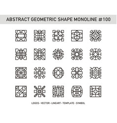 abstract geometric shape monoline 100 vector image