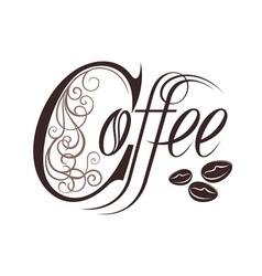 Coffee design template vector image