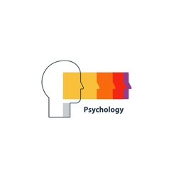 Emotional intelligence concept psychology logo vector image vector image