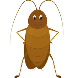 funny brown cockroach standing and smiling on a vector image