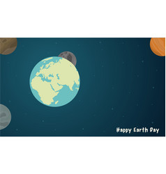 happy earth day with space style vector image vector image