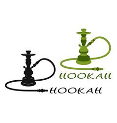 hookah set vector image vector image