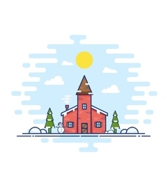 Line style christmas day vector