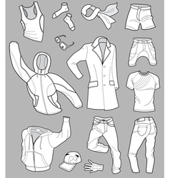 man clothes vector image
