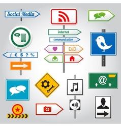 Social media sign vector image
