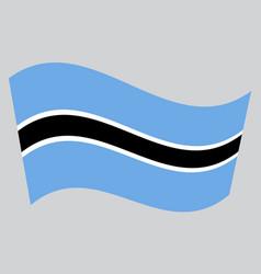 flag of botswana waving on gray background vector image vector image