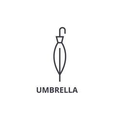 umbrella line icon outline sign linear symbol vector image