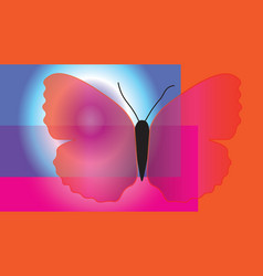 Abstract butterfly with translucent wings vector