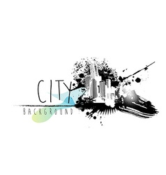 Abstract with city scape and place for your text vector image