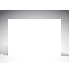 Blank card template light background and shadows vector image