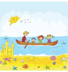 cartoon summer background vector image vector image