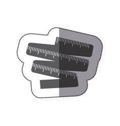 contour measuring tape icon vector image