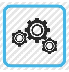 Gears Icon In a Frame vector image vector image