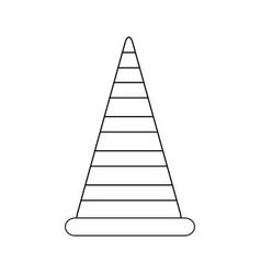 traffic cone icon road construction warning vector image vector image