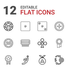 12 win icons vector image