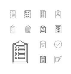 13 checkbox icons vector