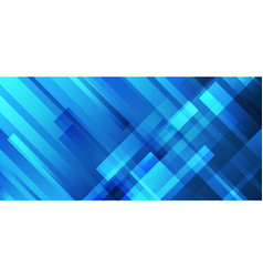 Abstract blue stripes overlapping technology vector